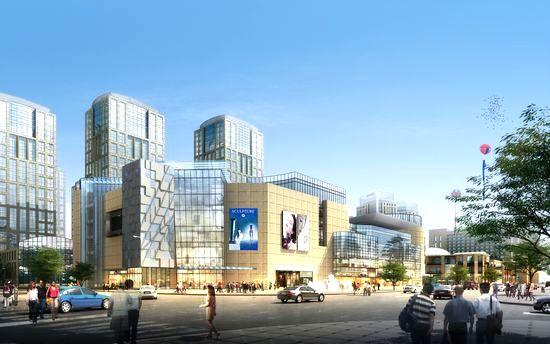 享鑫Q345B低合金方管应用案例之重庆佳程广场